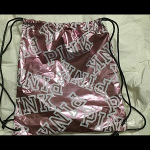 Pink Victoria's Secret Drawstring Gym Bag